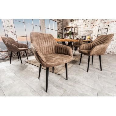 Krzesło z podłokietnikiem Turin taupe grau / 38790