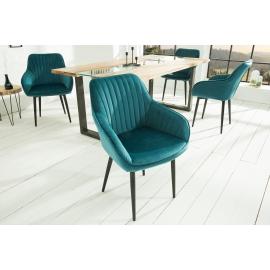 Krzesło z podłokietnikiem Turin turkusowy/ 38788