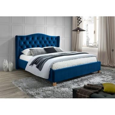 Łóżko ASPEN VELVET 160cm x 200cm niebieski
