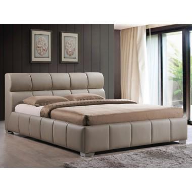 Łóżko Bolonia 160cm x 200cm beżowe z ecoskóry
