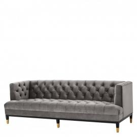 Sofa CASTELLE savona midnight blue velvet / pikowana