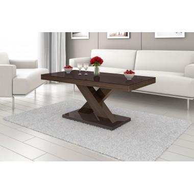 Stół VICTORIA czarno brązowy / rozkładany /AKRYL POŁYSK