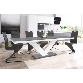 Stół VICTORIA szary mat / rozkładany / SUPER MAT