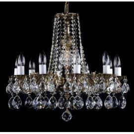 Żyrandol kryształowy mosiężny 6 ramienny  AL176