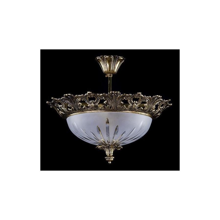 żyrandol Kryształowy Mosiężny 5 Cio Ramienny Al174 Home Inspiration
