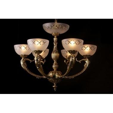 Żyrandol secesyjny / lampa sufitowa 6 ramienny PAN385600006