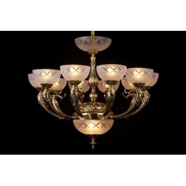 Żyrandol secesyjny / lampa sufitowa 13 ramienny PAN385600013