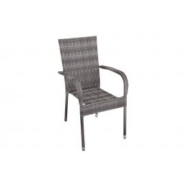 Krzesło ogrodowe NIZZA do układania w stos naturalny / 39072