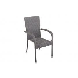 Krzesło ogrodowe NIZZA do układania w stos szare / 39071