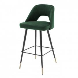 Krzesło Barowe AVORIO / roche zielony aksamit / 112054