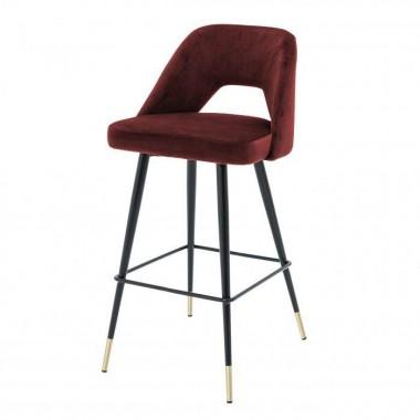 Krzesło Barowe AVORIO / roche bordeaux velvet / 112052