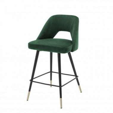 Hoker Barowy AVORIO / Roche green velvet | czarne i mosiężne nogi / 112055
