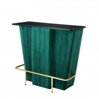 Barek Bolton Green velvet / black glass / Champagne gold finish / 111535