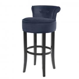 Stołek barowy Sophia Loren  Midnight blue velvet  / 113078