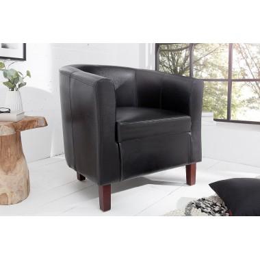 Fotel kolonialny Hemingway czarny / 38478