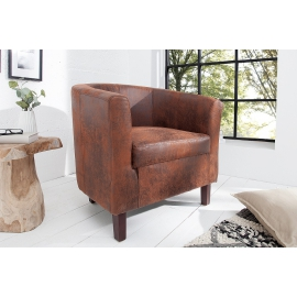 Fotel kolonialny Hemingway whisky brązowy / 38475