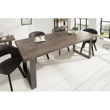 Stół do jadalni Iron Craft 180 cm szary Mango / 38657