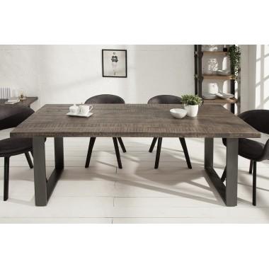 Stół do jadalni Iron Craft 200 cm szary Mango / 38659