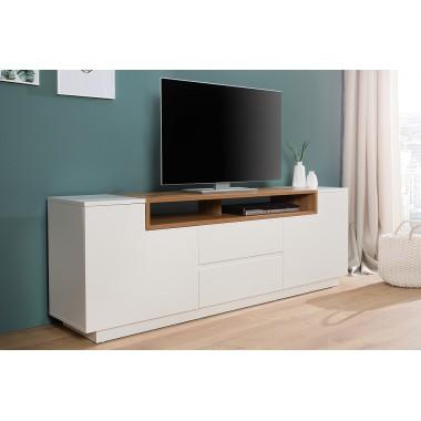 Szafka / Komoda TV LOFT 180 cm biały orzech / 39453