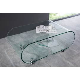 Stolik kawowy FANTOME szklany 90 cm / 37256