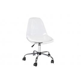 Krzesło biurowe FANTOME przezroczyste na kółkach obrotowe / 36107