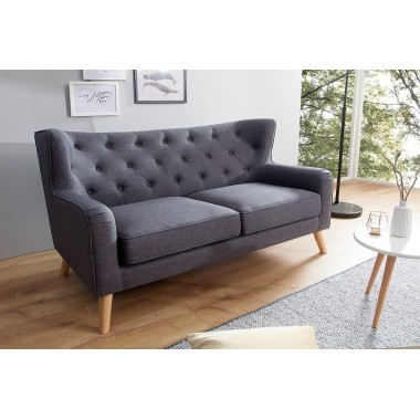 Sofa SCANDINAVIA Lounge 2 osobowa 145 cm antracyt / 38324