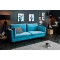 Sofa FAMOUS 3 osobowa 210cm niebieski aksamit / 39024