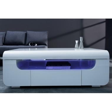 Stolik kawowy CUBE Ambience 120 cm LED biały / 37870