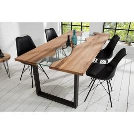 RIVER Stół do jadalni  200cm dąb dziki ze szkłem / 38236