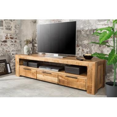 IRON CRAFT Szafka / komoda TV 170 cm naturalne mango / 38929