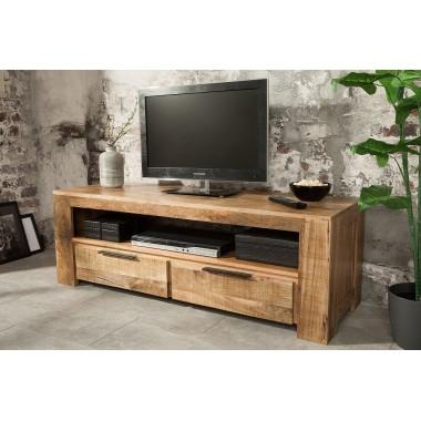IRON CRAFT Szafka / komoda TV 130 cm naturalne mango / 38931