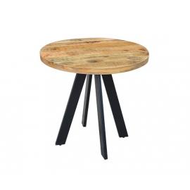 Iron Craft Stół do jadalni 80cm okrągły naturalny Mango / 39400