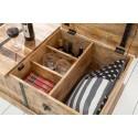 BODEGA Stolik kawowy z barkiem 100 cm Mango w kolorze naturalnym / 39814
