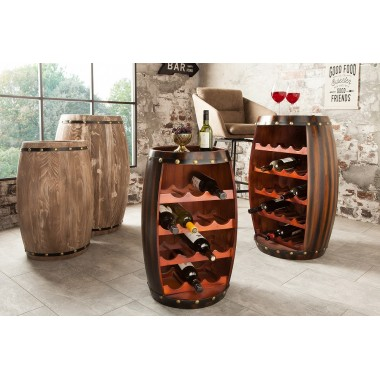 BODEGA Stojak /Barek na wino 60 cm kolor coffee/ 38963