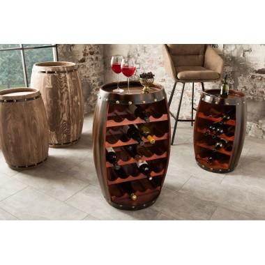 BODEGA Stojak /Barek na wino 80 cm kolor coffee/ 38961